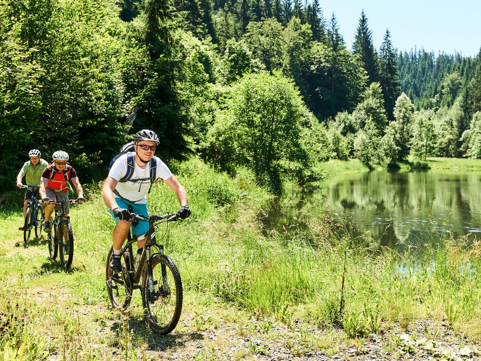 Radfahren im Naturpark Frankenwald
