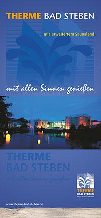 <strong>Therme Bad Steben</strong><br>Wasserwelten, Saunaland und Wellness-Dome - mit Übersichtskarte, Kursangeboten, Preisen und Öffnungszeiten der Therme Bad Steben.